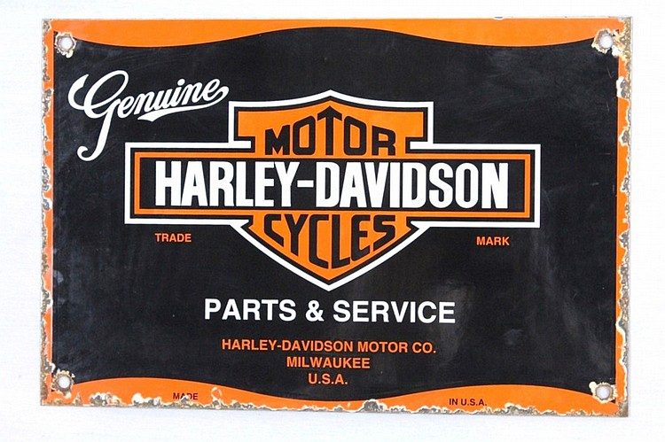 Harley-Davidson Motor Cycles Porcelain Sign
