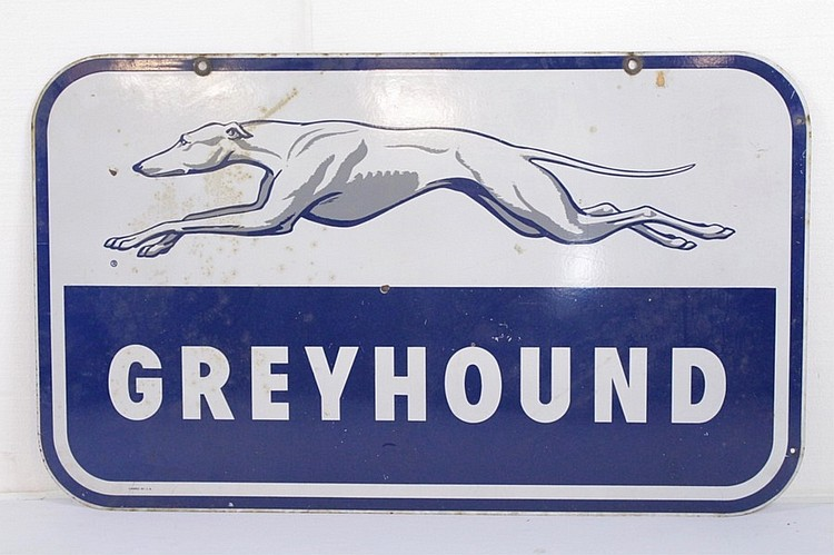 Greyhound Double Sided Steel Sign