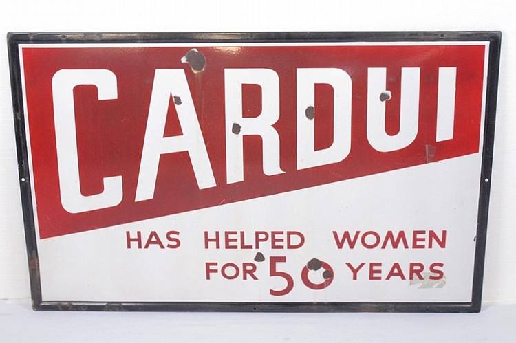 Cardui Single Sided Porcelain Sign