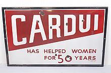 Cardui Single Sided Porcelain Sign