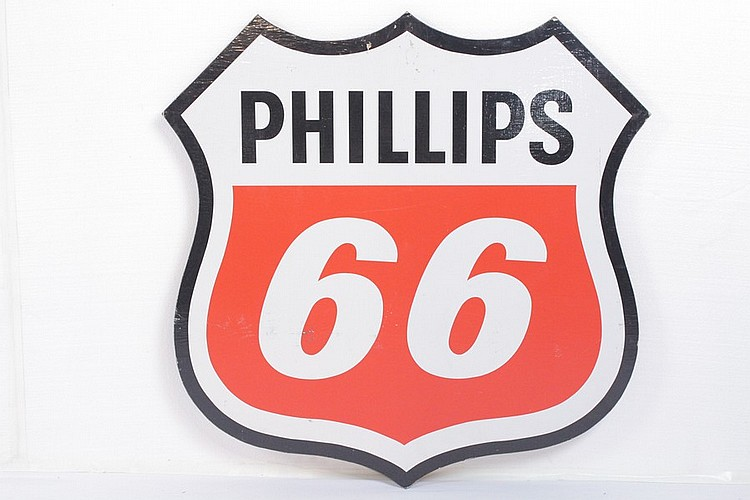 Phillips 66 Wooden Shield Sign