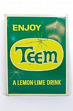 Enjoy Teem Beverage Sign