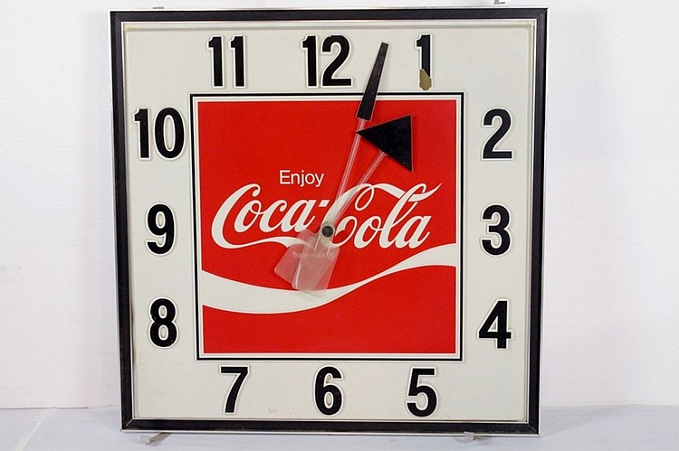 Electric Coca Cola Hanging Wall Clock