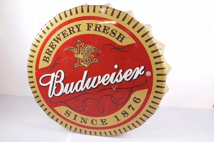 Budweiser Bottle Cap Sign