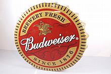 Budweiser Bottle Cap Sign