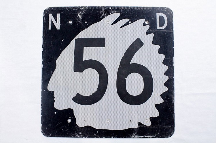 Original North Dakota 56 Road Sign
