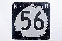 Original North Dakota 56 Road Sign