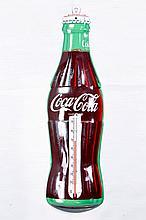 Original Coca Cola Tin Bottle Thermometer