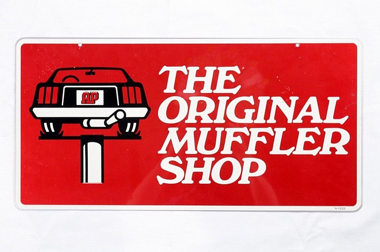 Original Muffler Shop DS Tin Sign