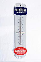 Prestone Anti-Freeze Porcelain Thermometer Sign