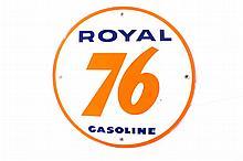 Royal 76 Gasoline Porcelain Gas Pump Plate