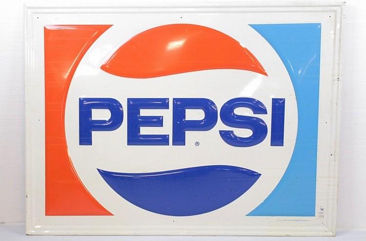 Pepsi Single Sided Embossed Sign