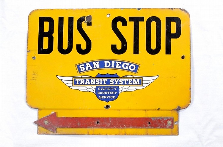 Original San Diego Bus Stop SSP Sign