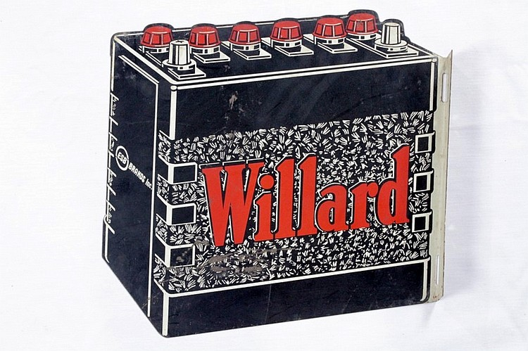 Original Willard Batteries DST Flange Sign