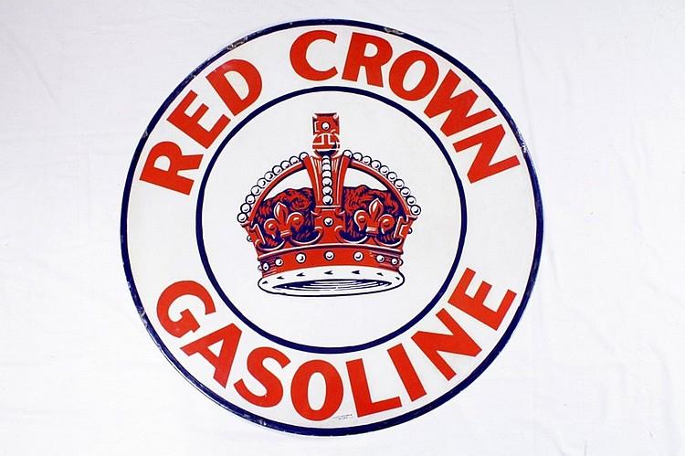 Original Red Crown Gasoline SSP Sign