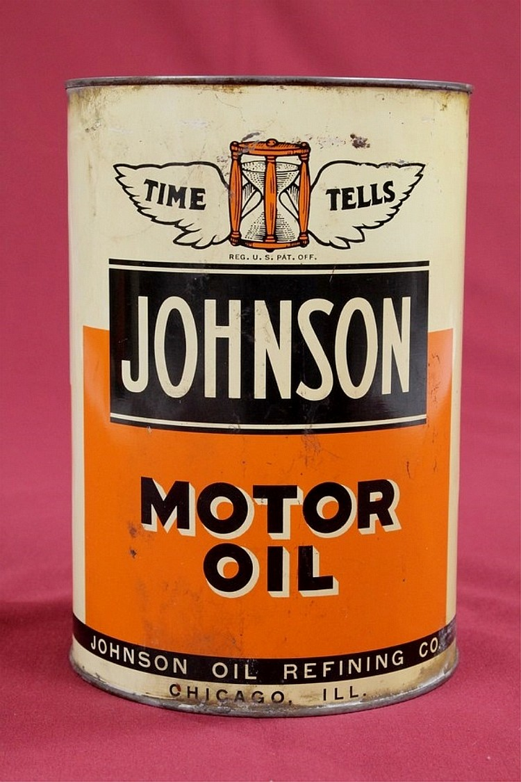 Original Johnson 5 Quart Motor Oil Can