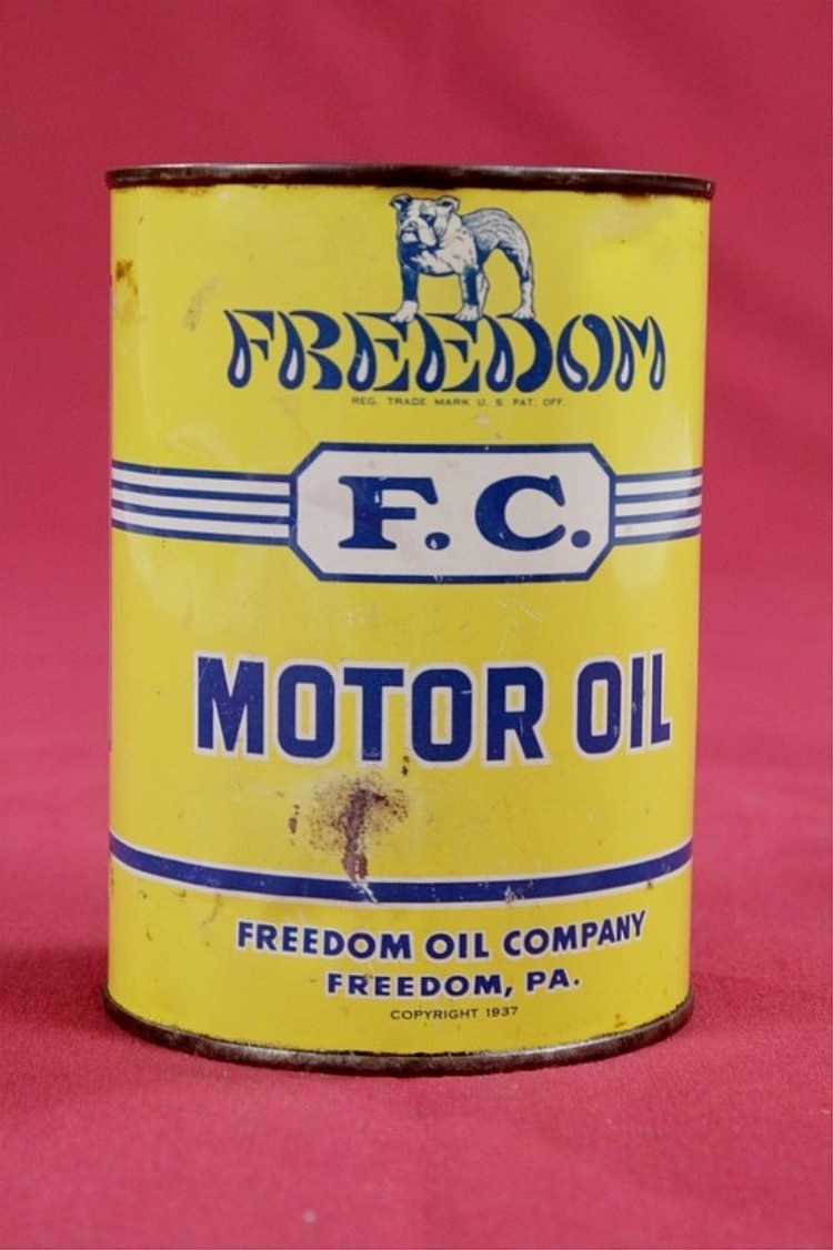 Original Freedom Motor Oil Full Quart Can