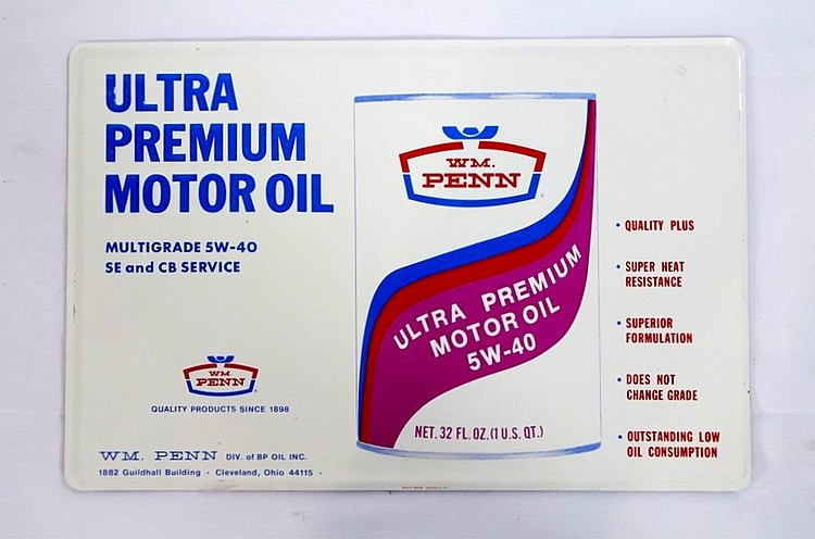 Ultra Premium Motor Oil SST Sign