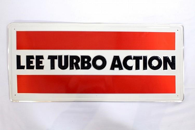 Lee Turbo Action Single Sided Tin Sign
