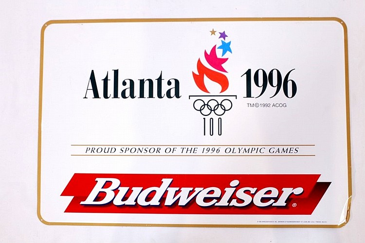 Atlanta 1996 Olympics Budweiser Tin Sign