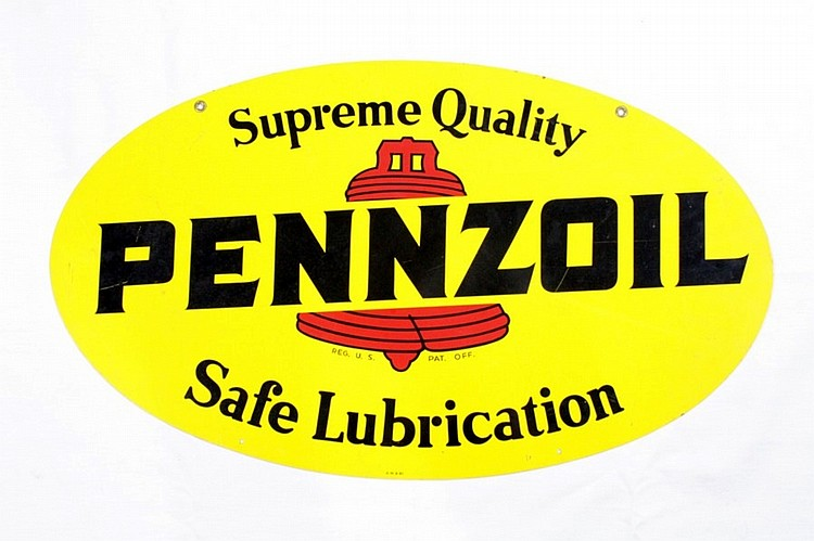 Original Pennzoil Motor Oil DST Sign