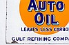 Early Gulf Supreme Motor Oil DSP Flange Sign