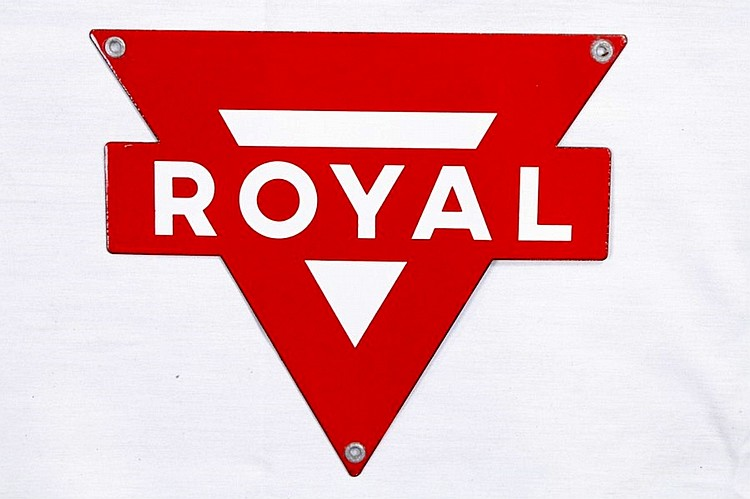 Conoco Royal Gasoline Porcelain Gas Pump Plate