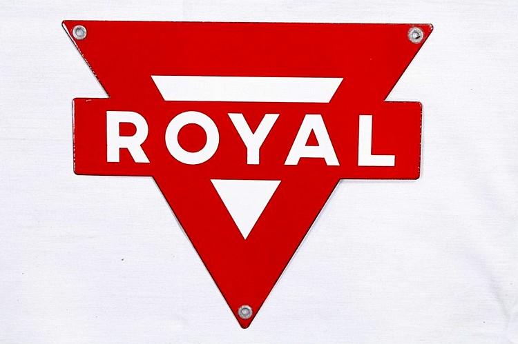 Conoco Royal Gasoline Porcelain Gas Pump Plate