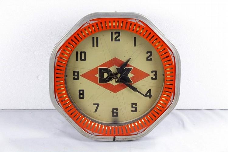 Original DX Spinner Neon Clock