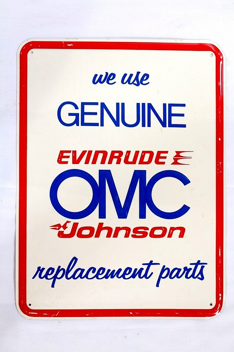 Evenrude OMC Johnson Replacement Parts SST Sign