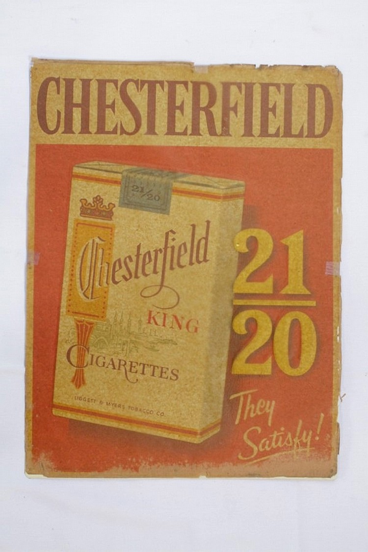 Chesterfield Cigarettes SST Sign