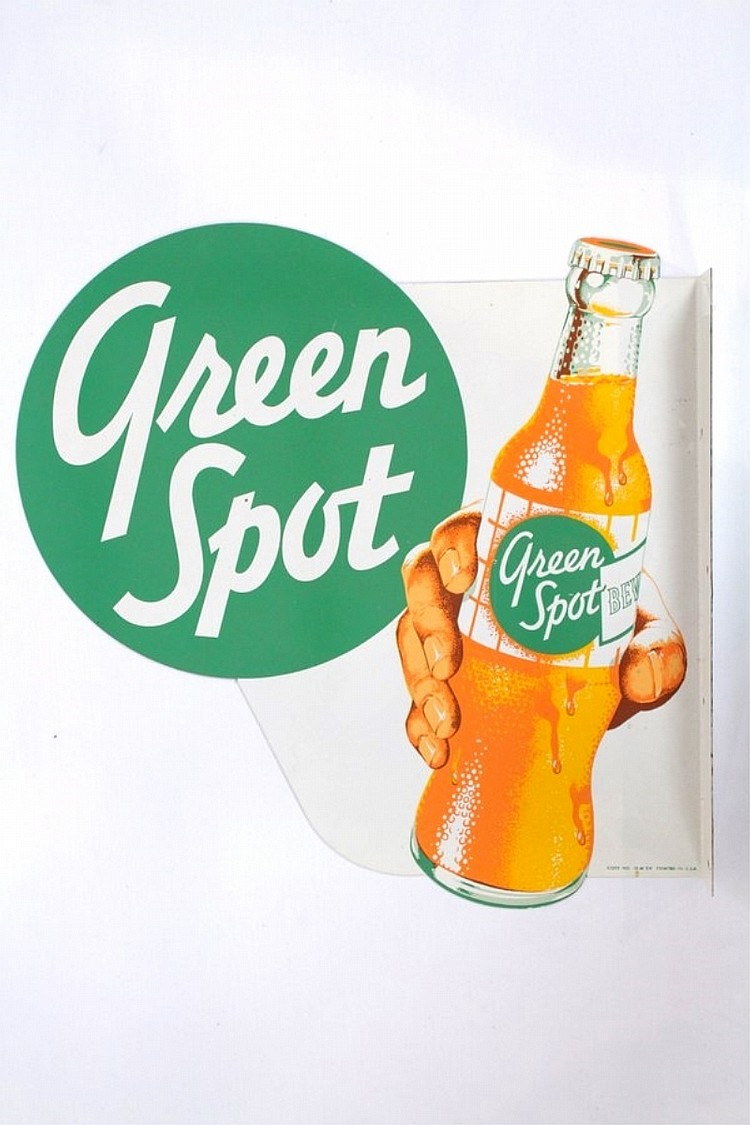 Green Spot Beverage Diecut Flange Sign