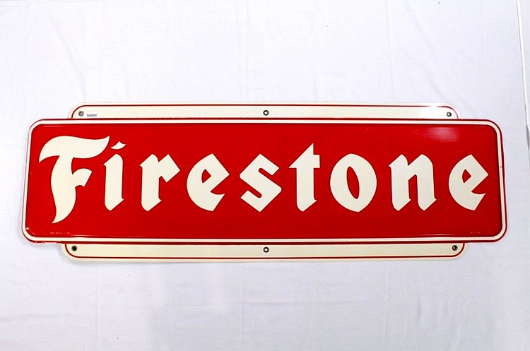 Nice Firestone Tires Single Sided Tin Sign
