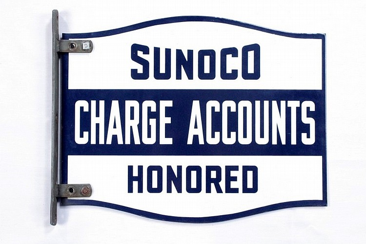 Rare Sunoco Charge Account DSP Flange Sign