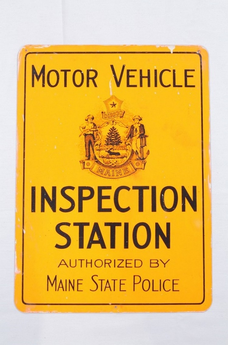 Maine Motor Vehicle Inspection Station Sign