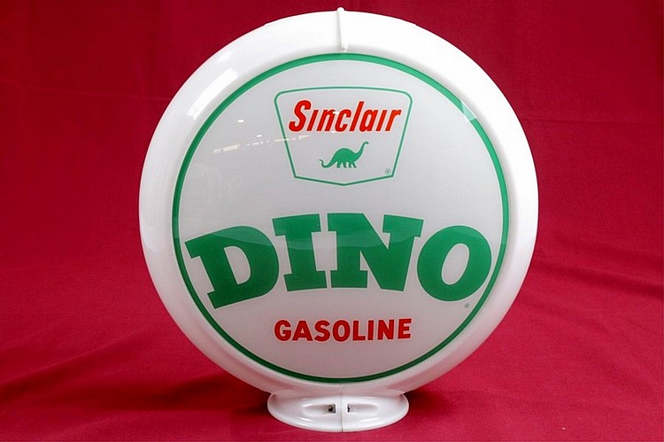 Sinclair Dino Gasoline Gas Pump Globe Orig. Capco