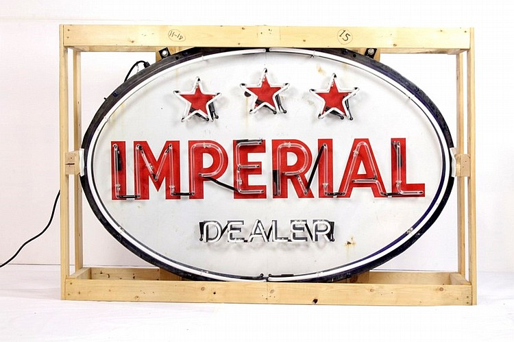 Original Imperial Gasoline Dealer SSP Neon Sign