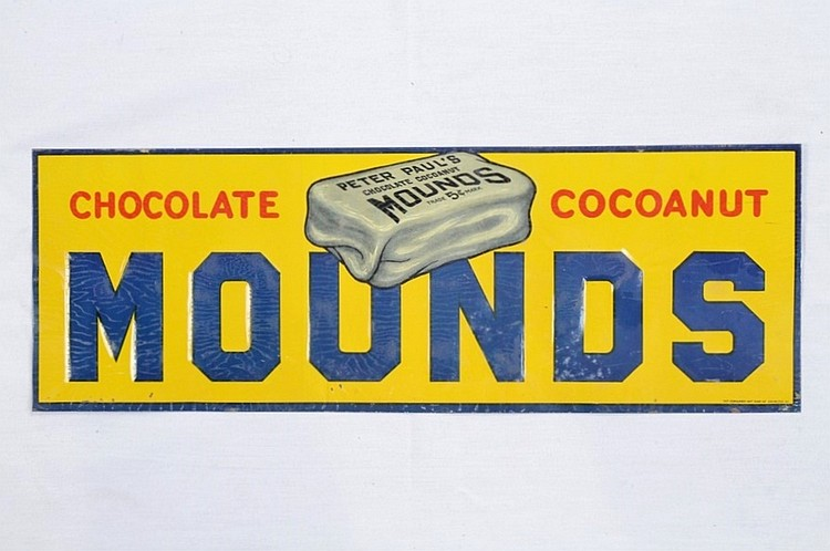 Early Mounds Chocolate Coconut SST Embossed Sign