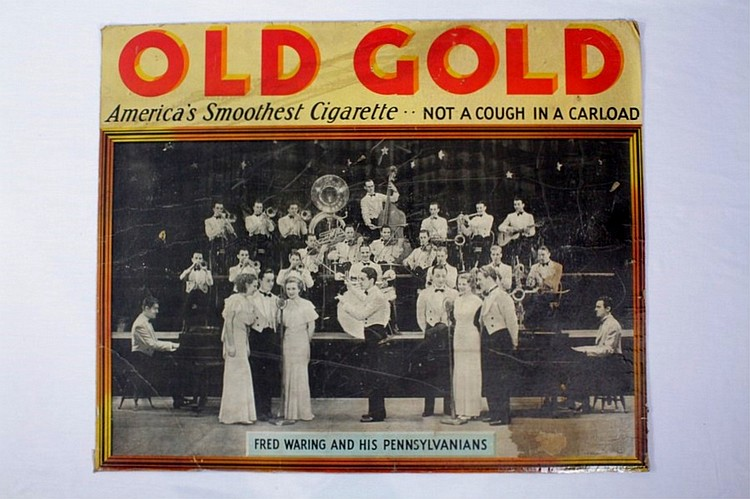 Old Gold Cardboard Cigarette Sign