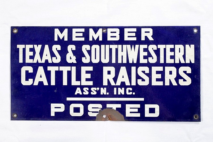 Original Cattle Raisers Association SSP Signs