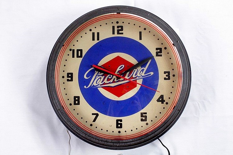 Rare Packard Neon Clock
