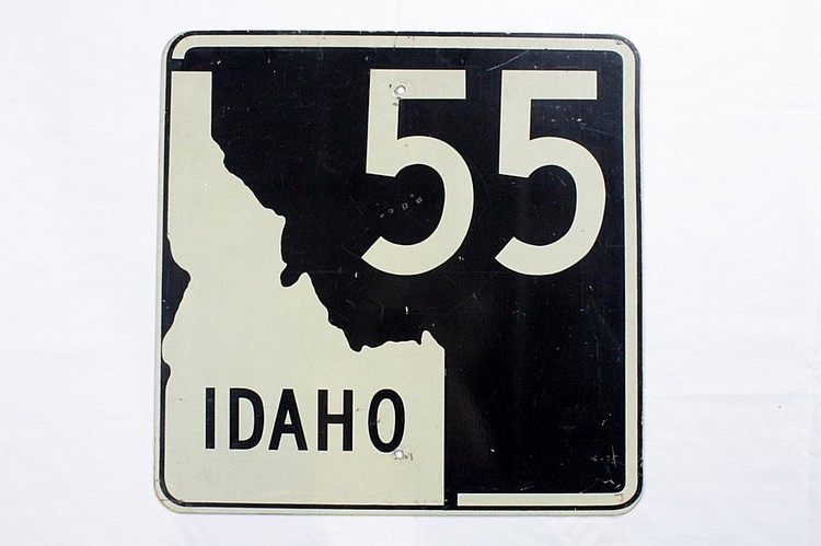 Original Idaho 55 Road Sign