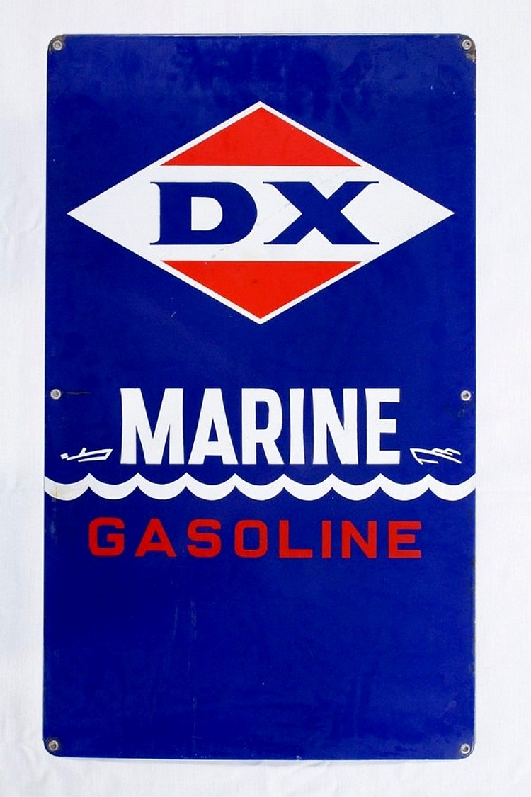 DX Marine Gasoline Porcelain Gas Pump Plate