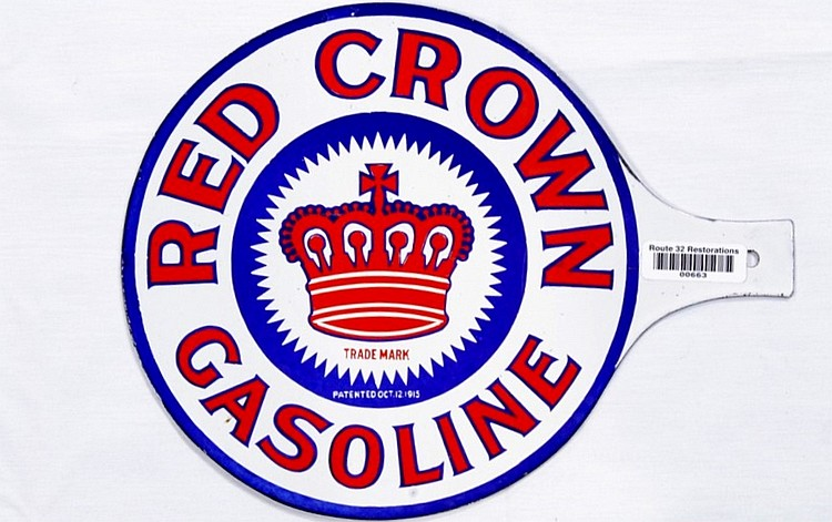 Rare Red Crown DSP Visible Pump Sign