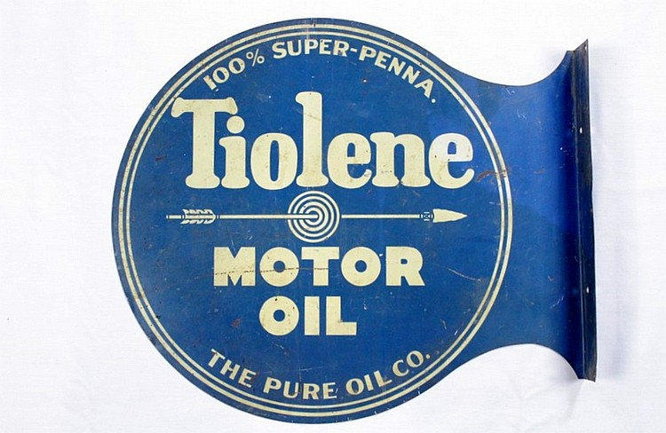 Original Pure Tiolene DST Flange Sign