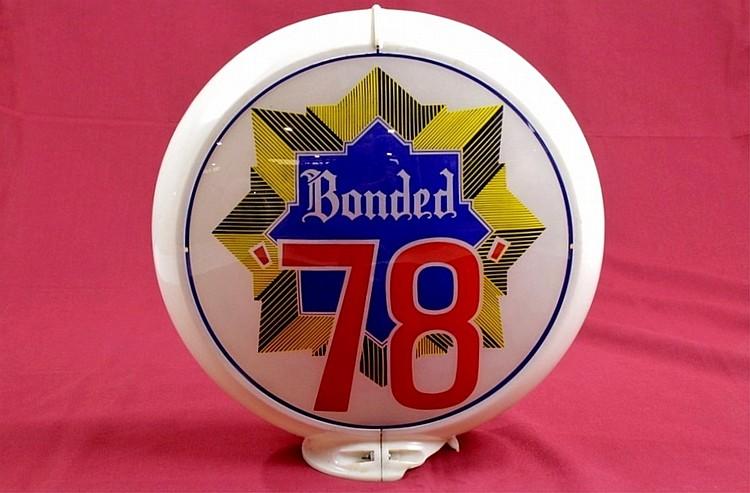 Bonded 68 78 Gasoline Gas Pump Globe Orig. Capco