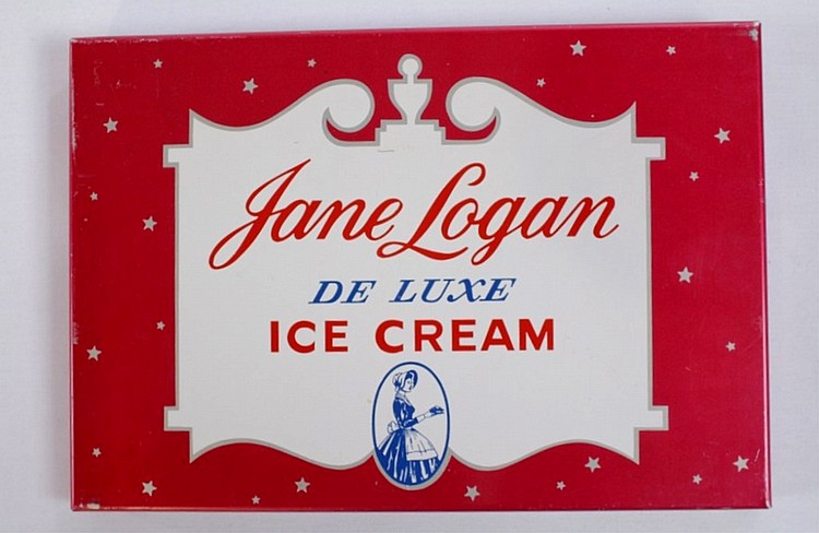 Jane Logan De Luxe Ice Cream Sign