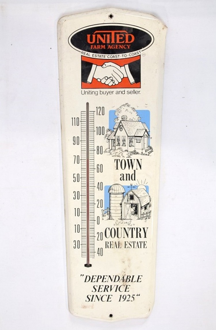 United Farm Agency Mercury Thermometer