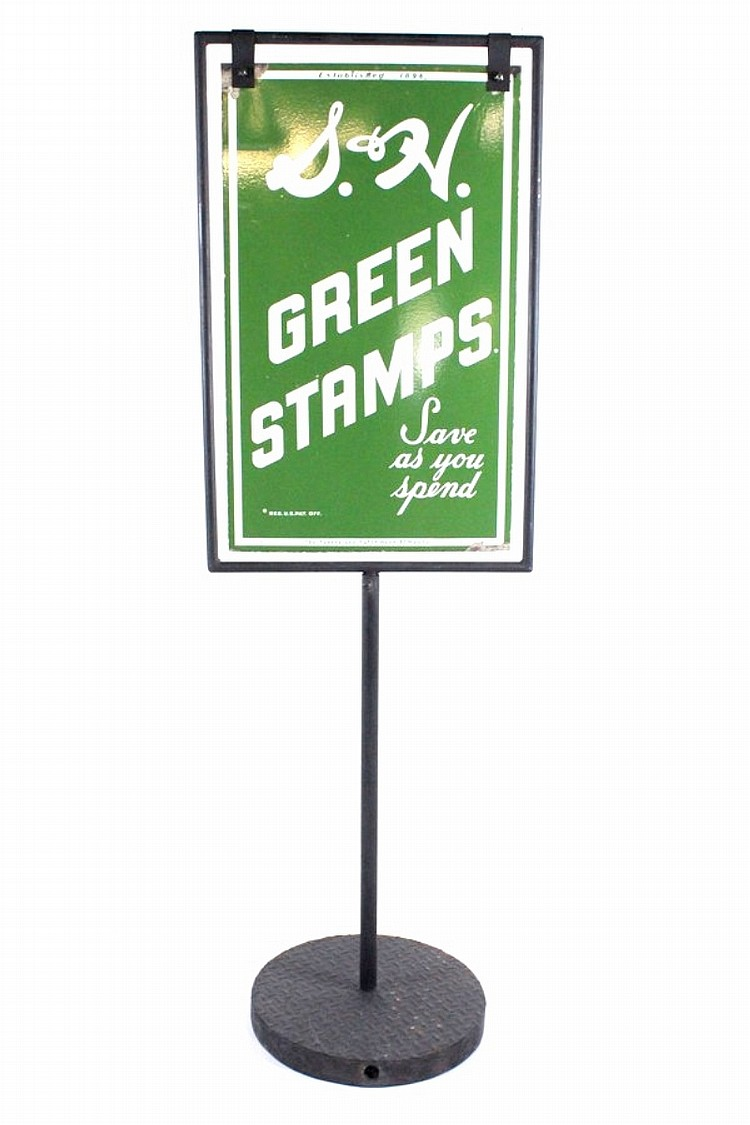 S&H Green Stamps Hanging Sign with Stand
