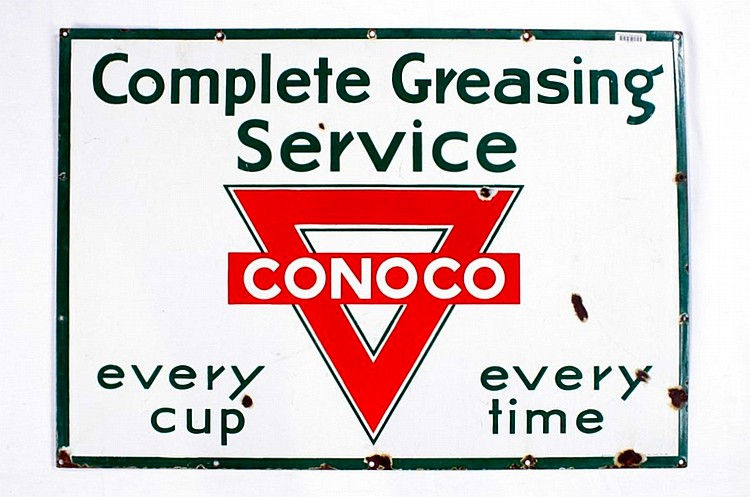 Original Conoco Complete Greasing SSP Sign